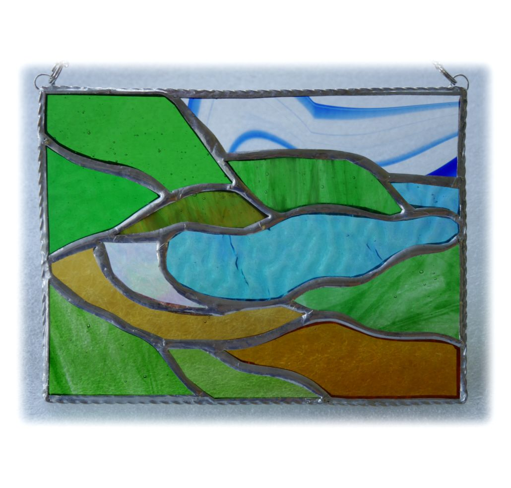 GREEN Cornish Cove 008 7.5x5.5 #1707 FREE 30.00