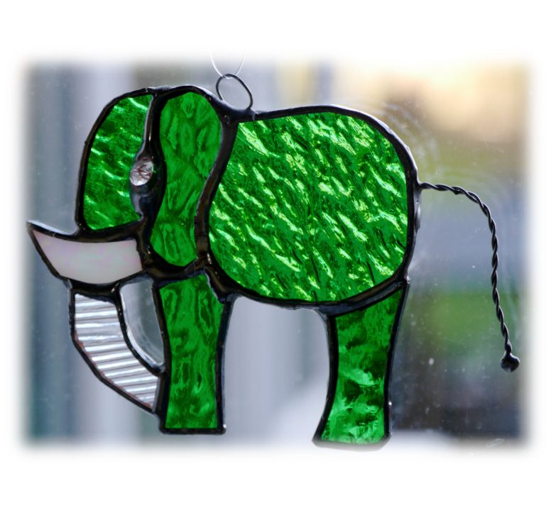 GREEN Elephant mini 088 Green #1801 FREE 9.00