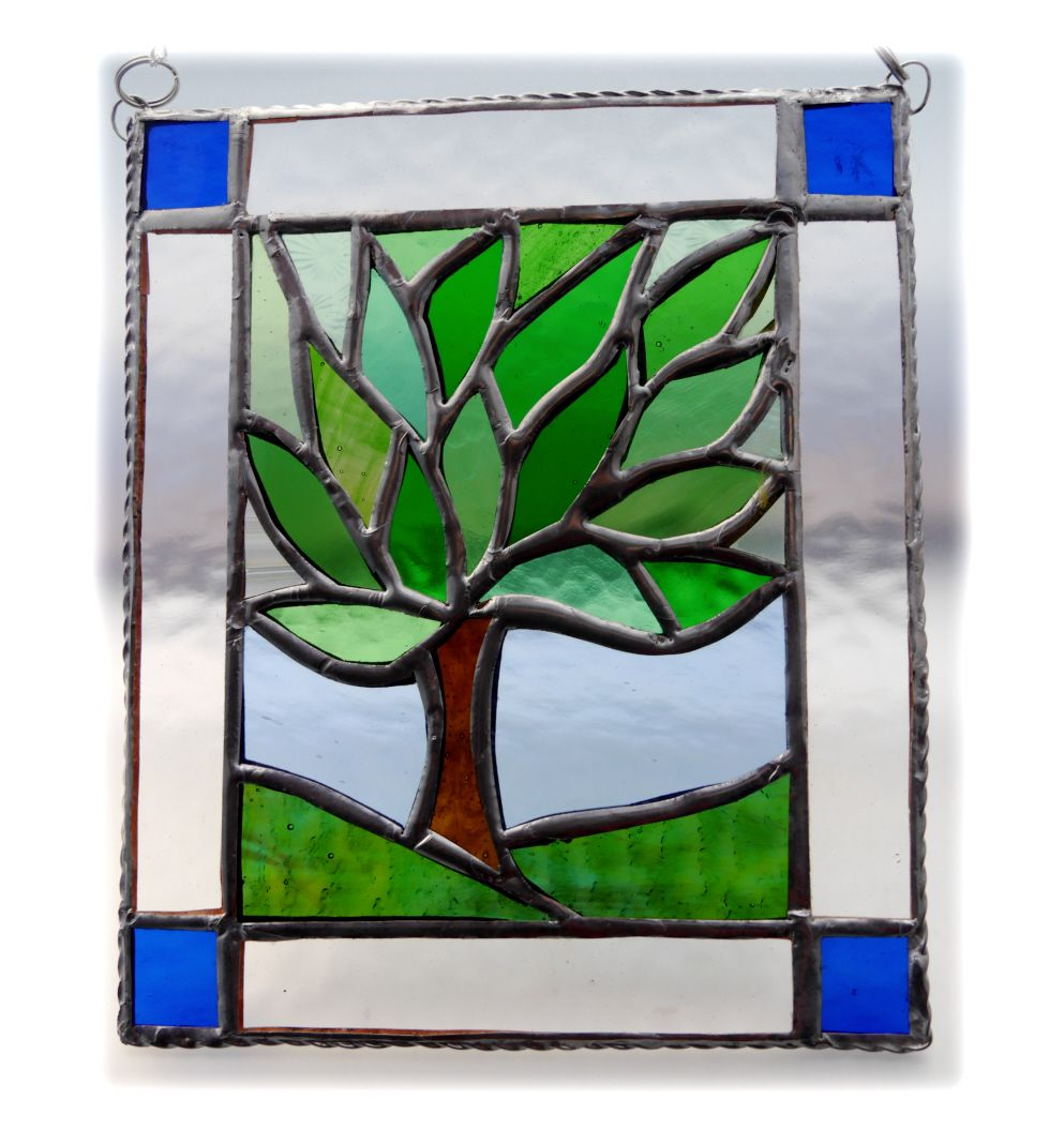 GREEN Leafy Tree Framed 001 #1803 FREE 27.50