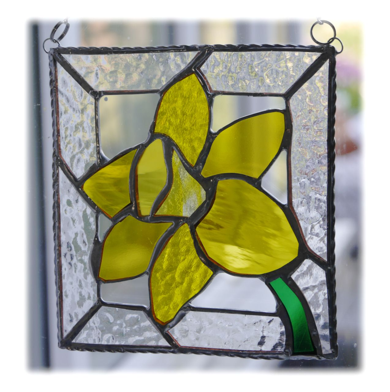 YELLOW Daffodil Framed 021 #1807 FREE 17.50
