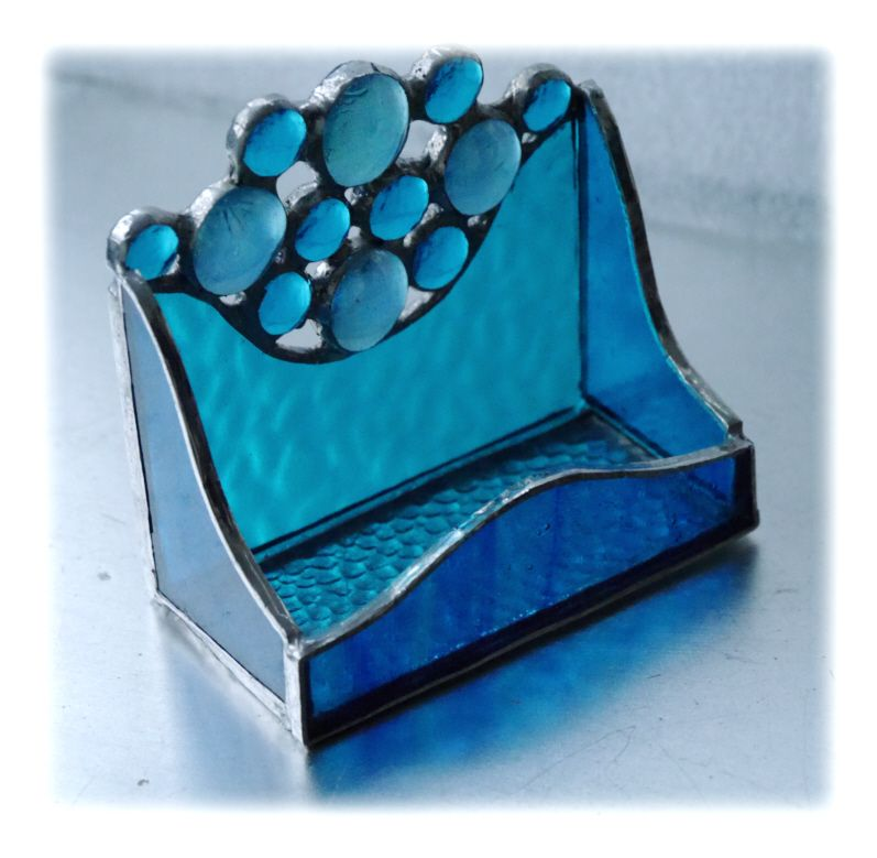 Business Card Holder 007 Turquoise #1603 @FOLKSY @160323 @20.00