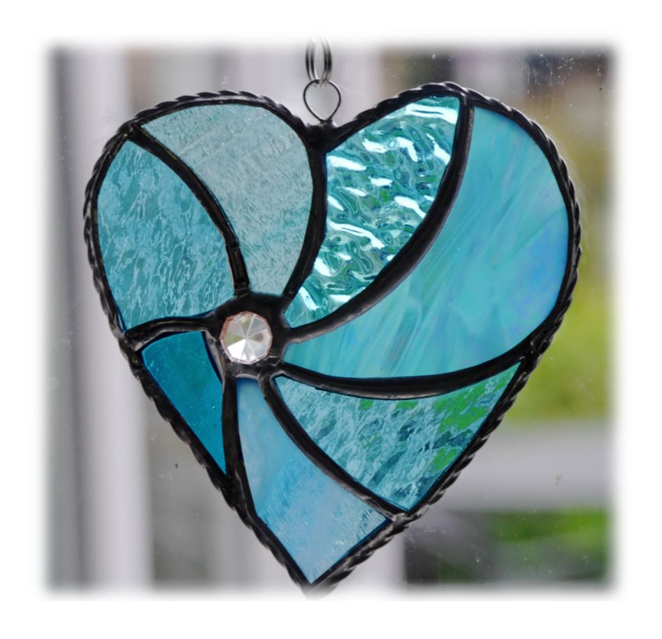 Swirl Heart 043 Turquoise #1906 FREE 13.00