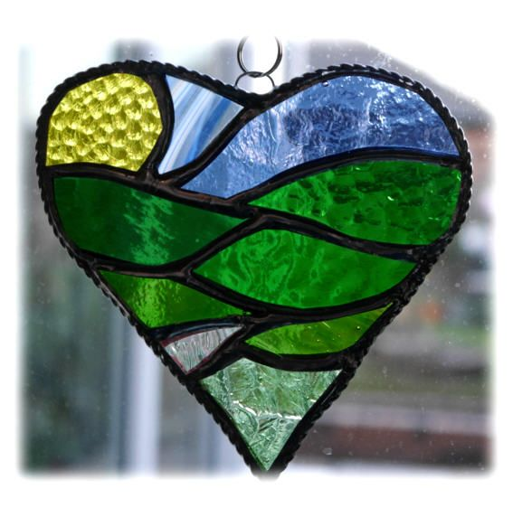 Heart Fields 005 Green #1503 @150709 @FOLKSY @15.00