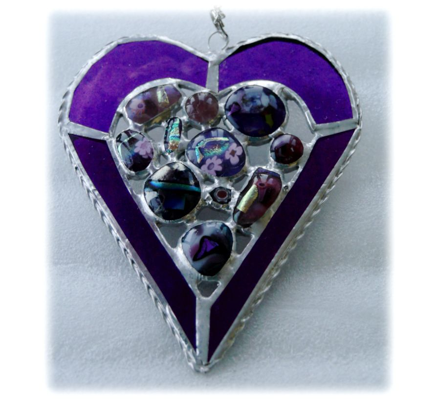 Abstract Heart 017 Purple #1703 @FOLKSY @181211 @16.00