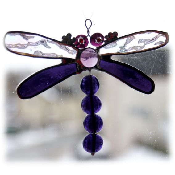 Dragonfly beadtail 007 Purple @1303@FOLKSY@130705@7.00