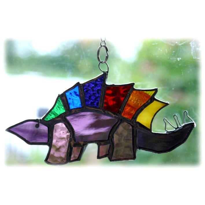 Dinosaur Stegosaurus 009 Purple @1308@FOLKSY@130805@10.50
