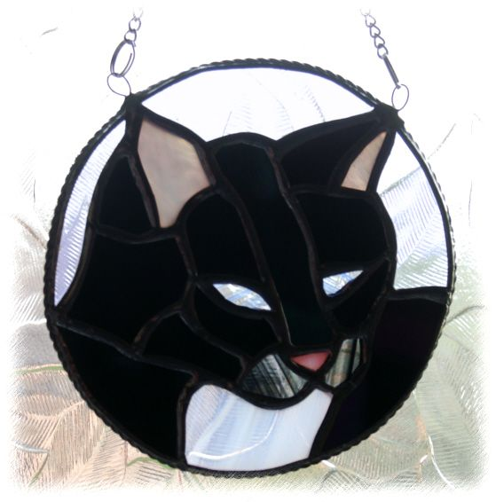 Cat  Ring 009 Black white throat FOLKSY RuthCook  121203 15.00