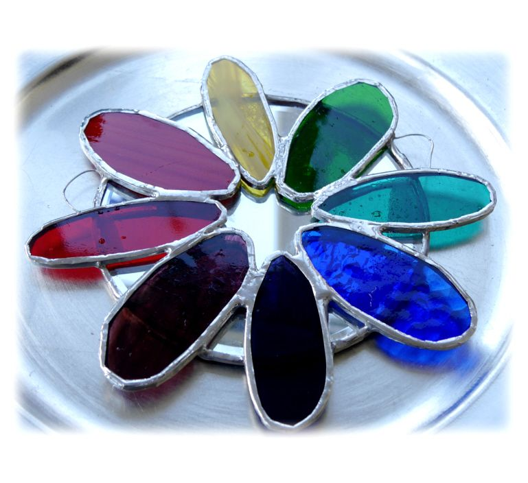 Rainbow Daisy Mirror 002 #1604 FREE 16.00