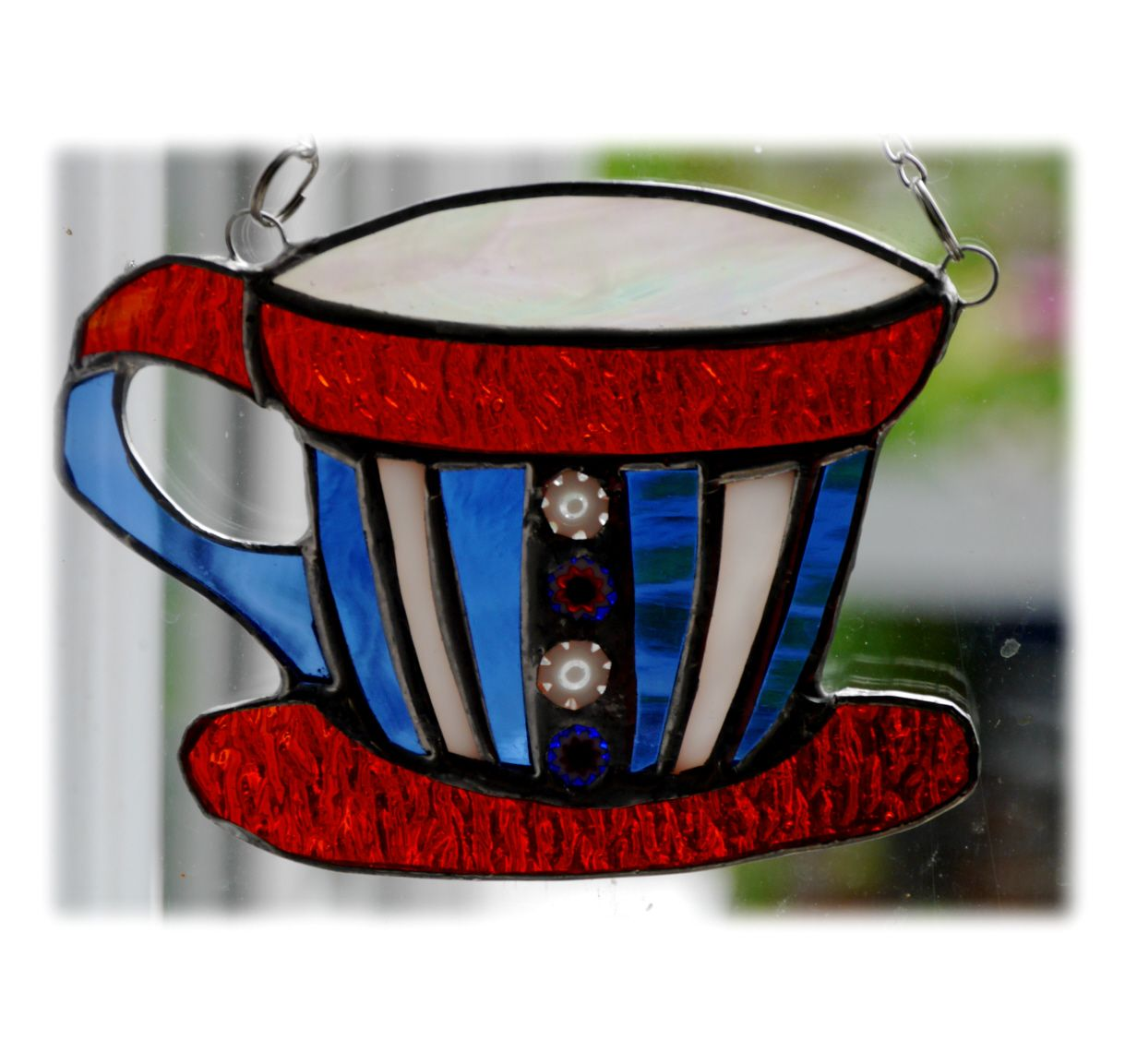 Teacup 009 5x4 Red white blue FREE @17.50