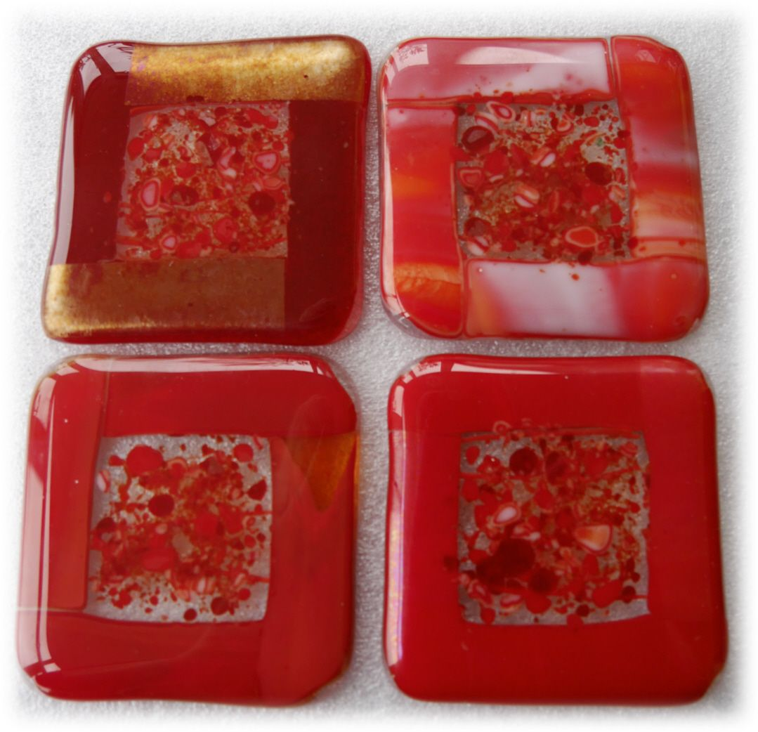 Coaster 8cm 4xset  009 #1710 Red FREE 20.00 (9)