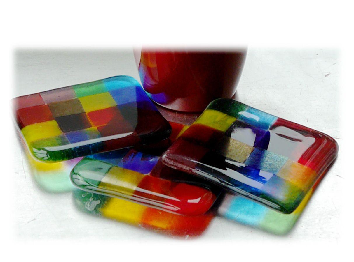 Coaster 9cm 077 Rainbow Patchwork Y7 #1804 FREE 5.00