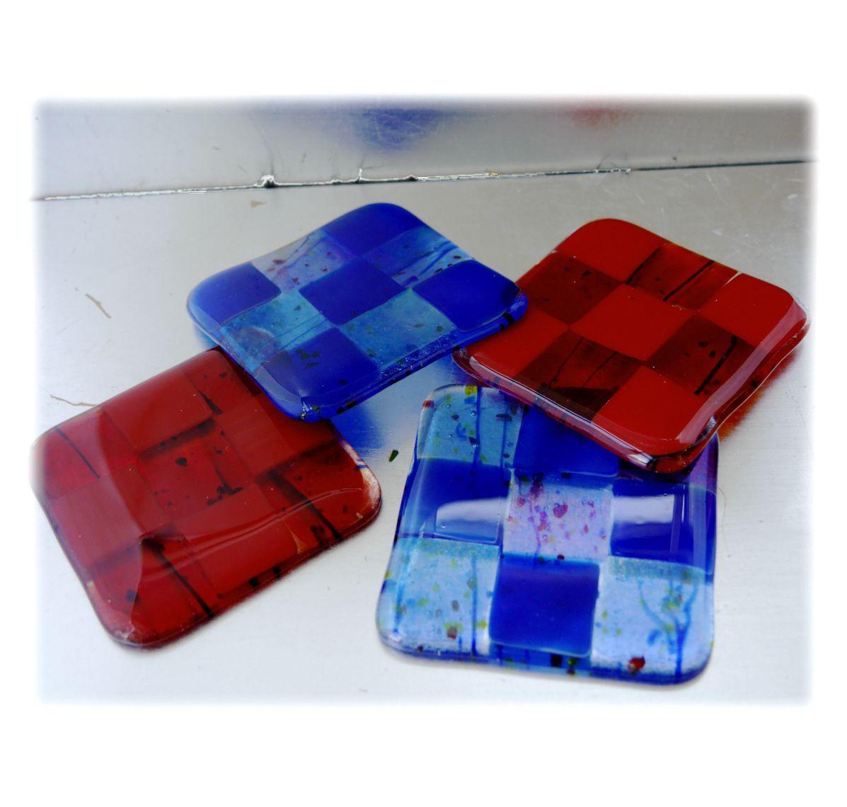 @NMA @171202 @Coaster 9cm 034 Red Squares #1711 FREE 5.00