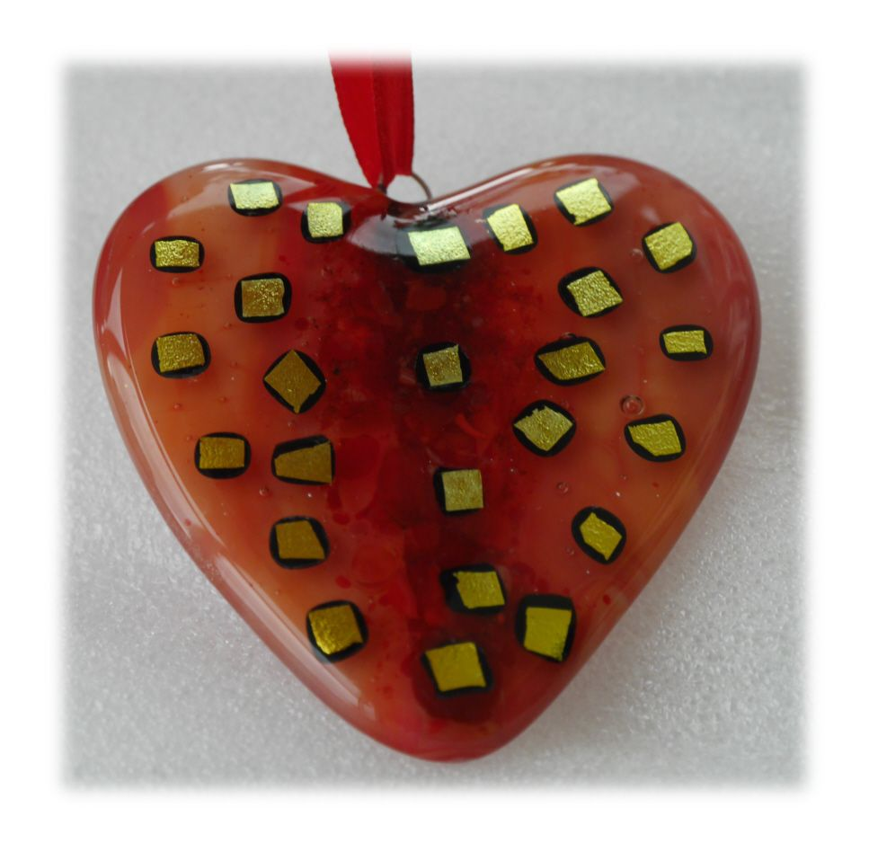Heart 8.5cm 008 Fused #1707 FREE 7.00