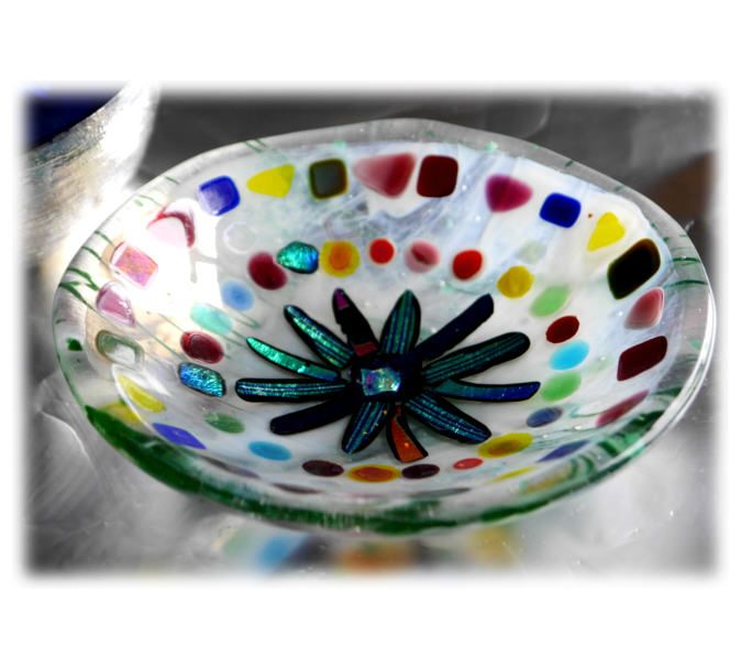13cm Round Dolly Mixture Bowl FUSED 007 #1502 @FOLKSY @150512 @16.00