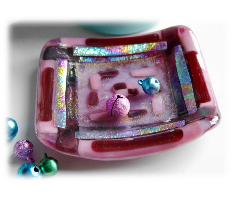 9cm fused Dish 013 Pink 11.50