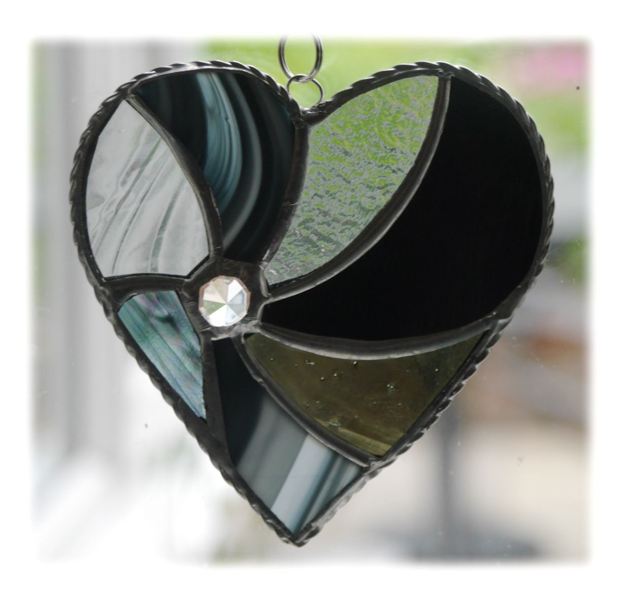 Swirl Heart 038 Black #1906 FREE 14.50