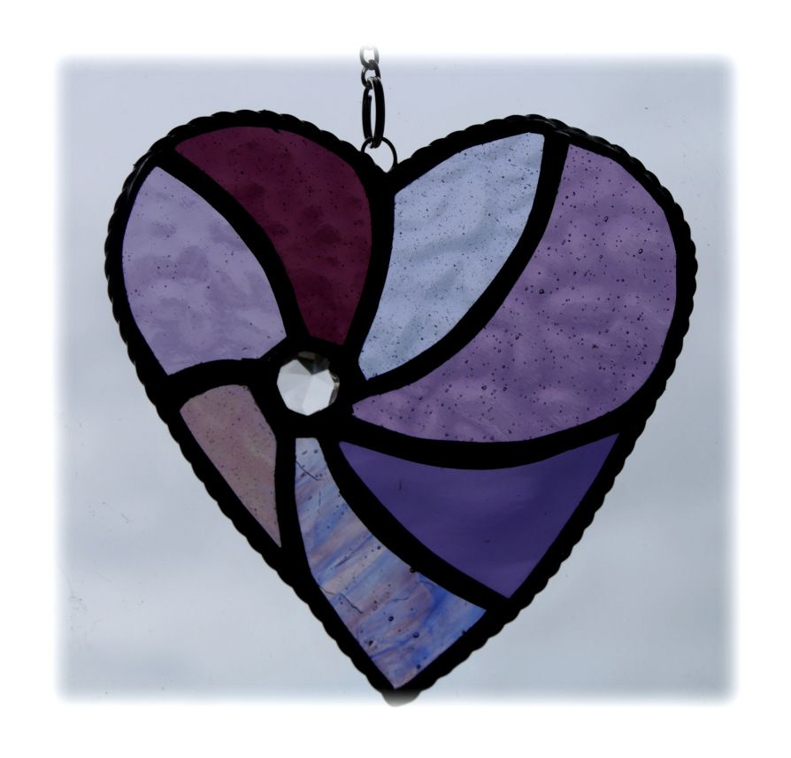 Swirl Heart 042 Purple #1906 FREE 14.50