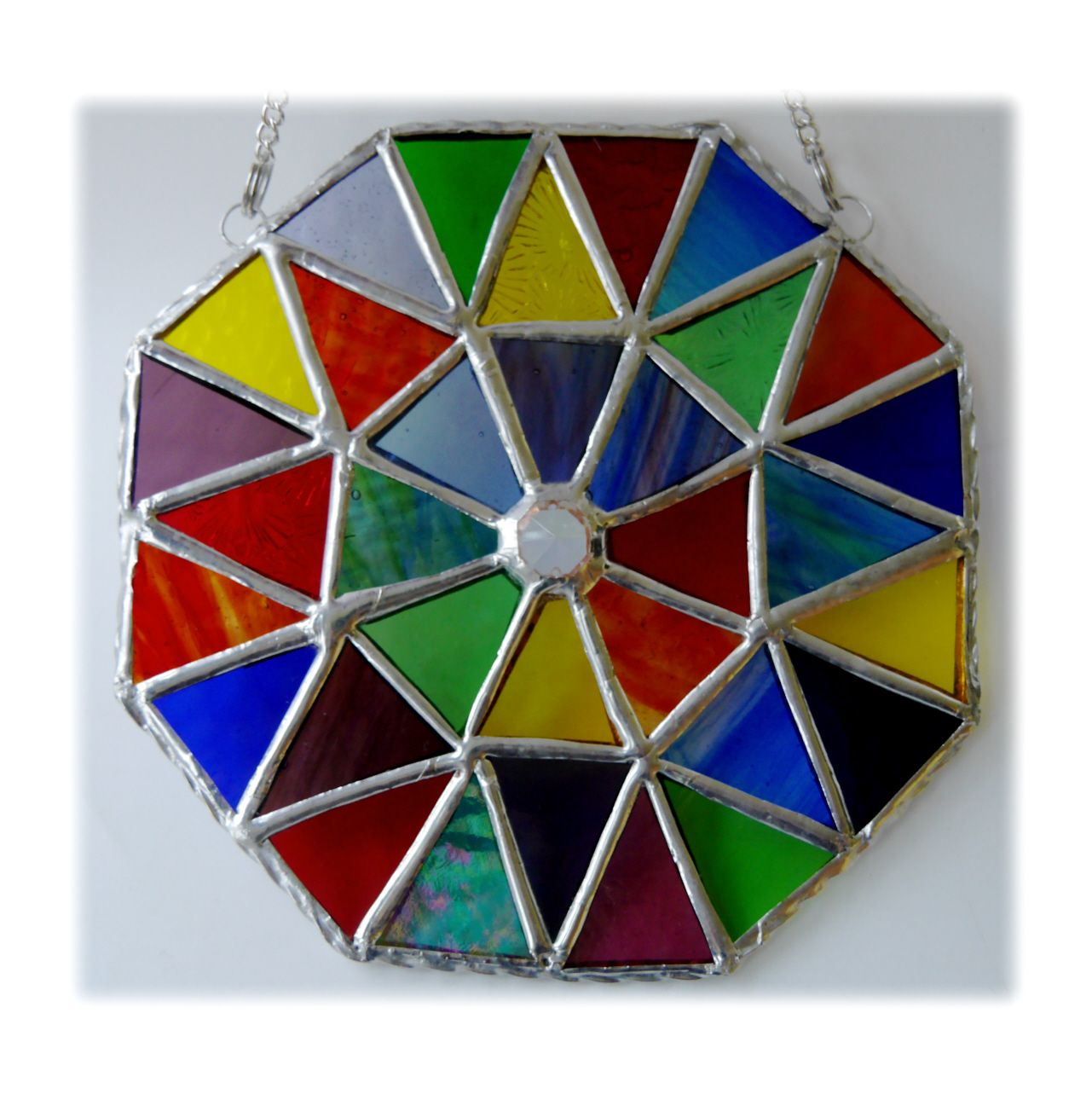 Rainbow Patchwork Octagon 002 #1903 FREE 27.50