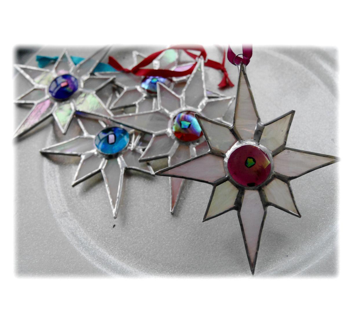 White dichroic star 005 Plum #1810 FREE 9.00