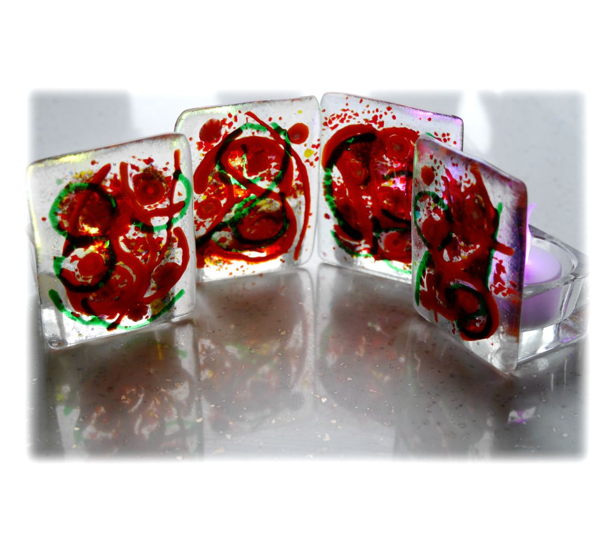 Fused Candle 8.5x6.5 001 #1811 FREE 10.00