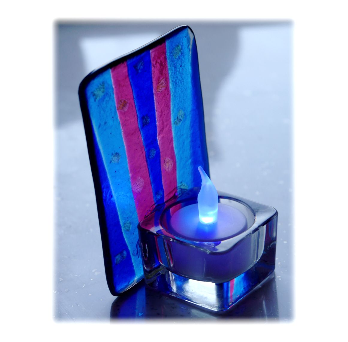 Fused Candle 11x8 003 Blue #1811 FREE 15.00