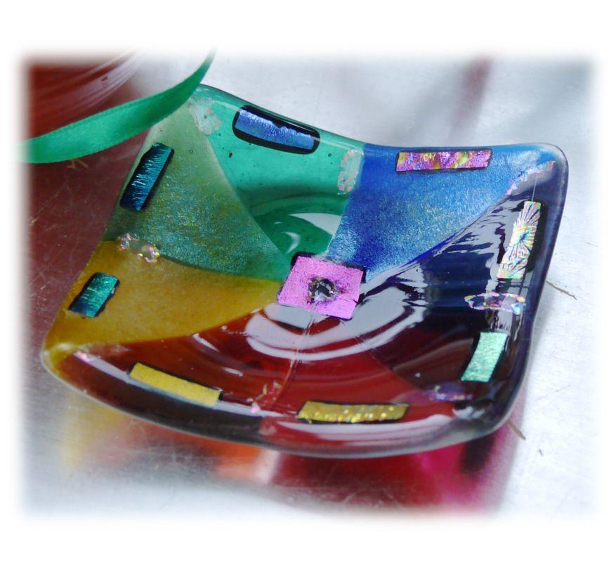 9cm Rainbow dichroic Dish 001 #1803 @WI MARKET @190319 @12.50