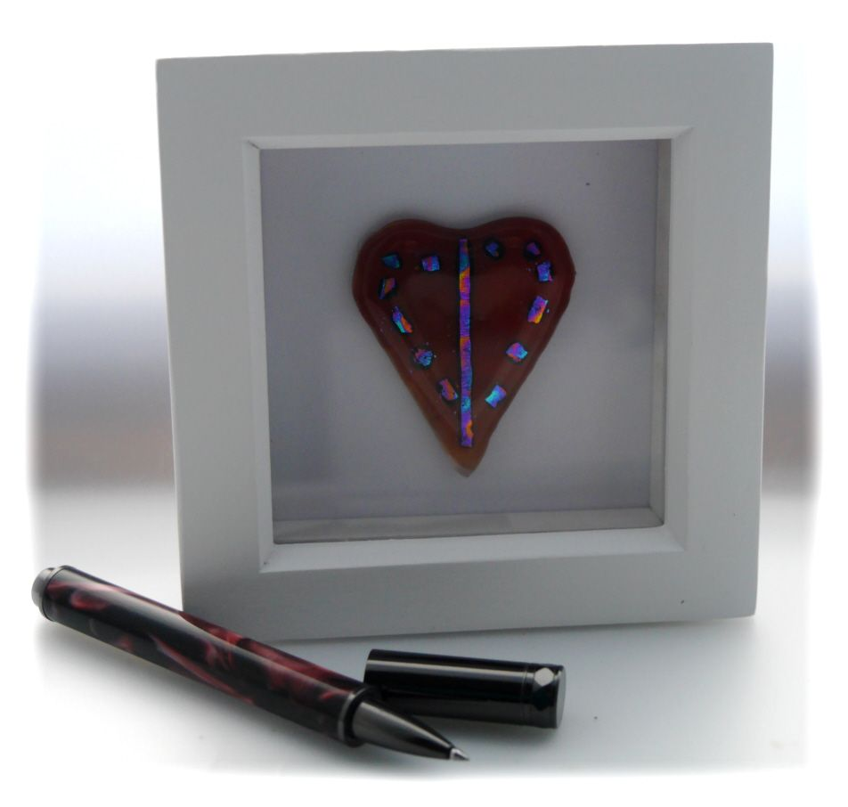 Mini boxed Dichroic Heart 001 #1801 FREE 12.50