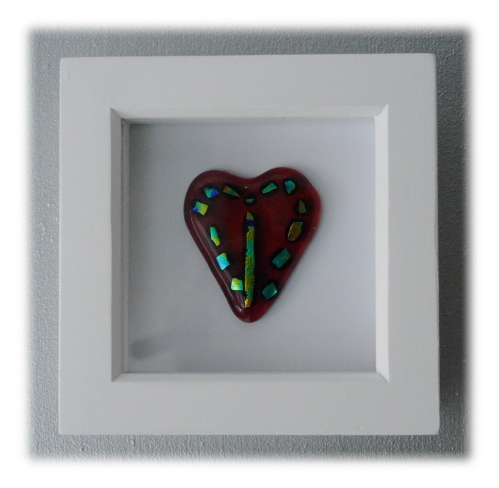 Mini boxed Dichroic Heart 002 #1801 FREE 12.50