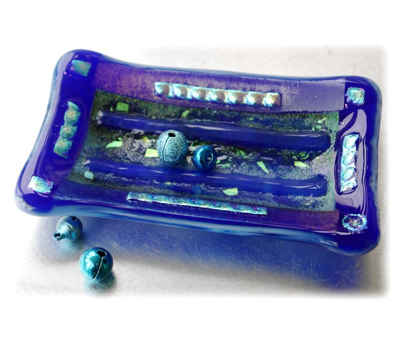 Soap Dish 008 Blue Dichroic #1511 @FOLKSY @180303 @12.00