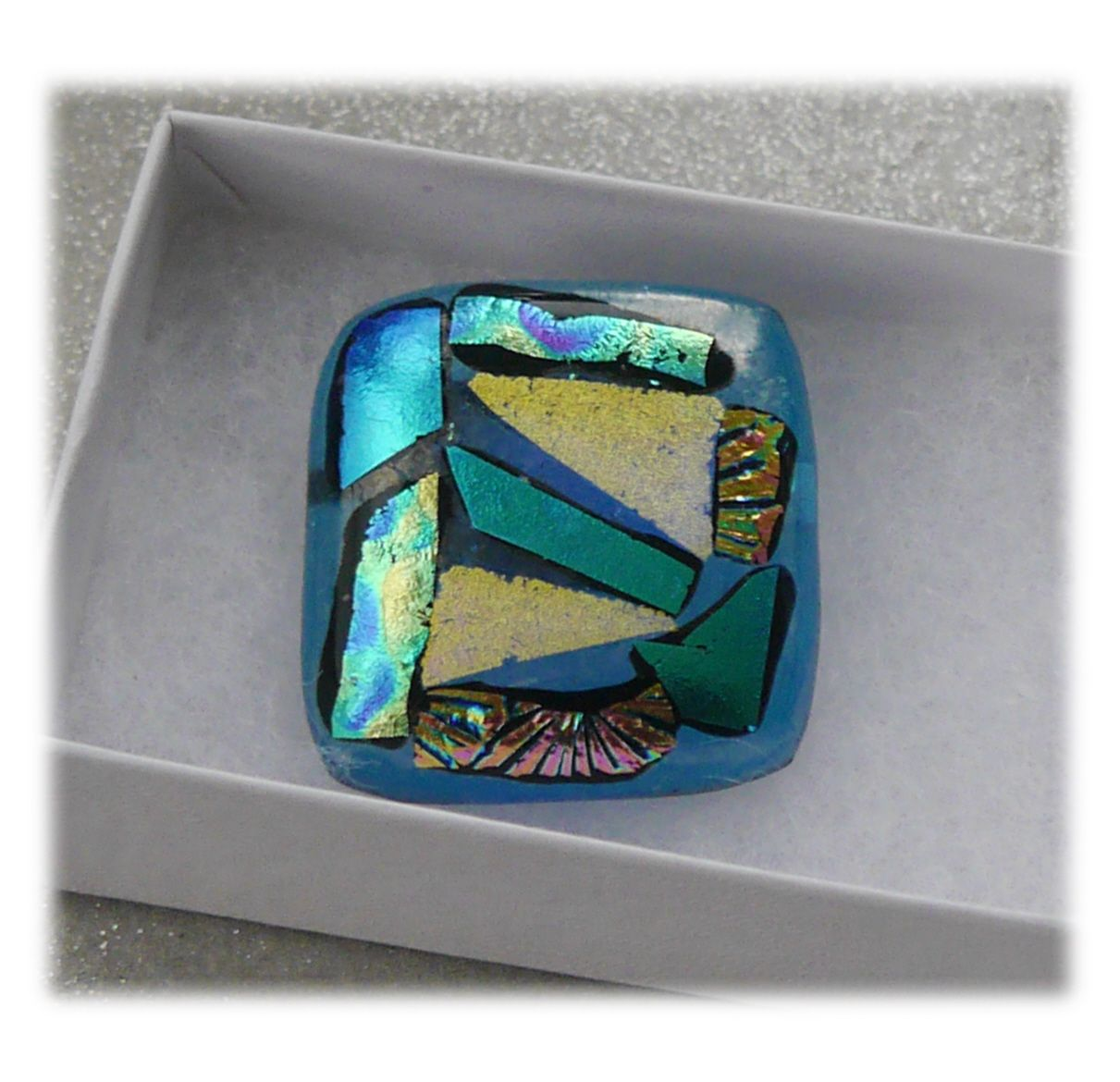 Brooch Fused Dichroic 037 #1808 @ALTON @181103 @6.00