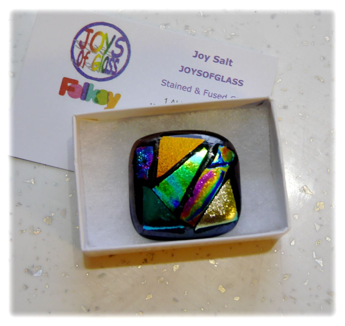 Brooch Fused Dichroic 040 #1811 @ASTON @181118 @6.00