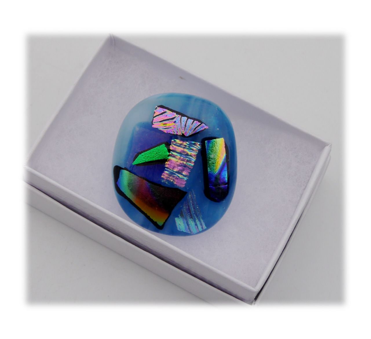 Brooch Fused Dichroic 046 #1811 FREE 8.00