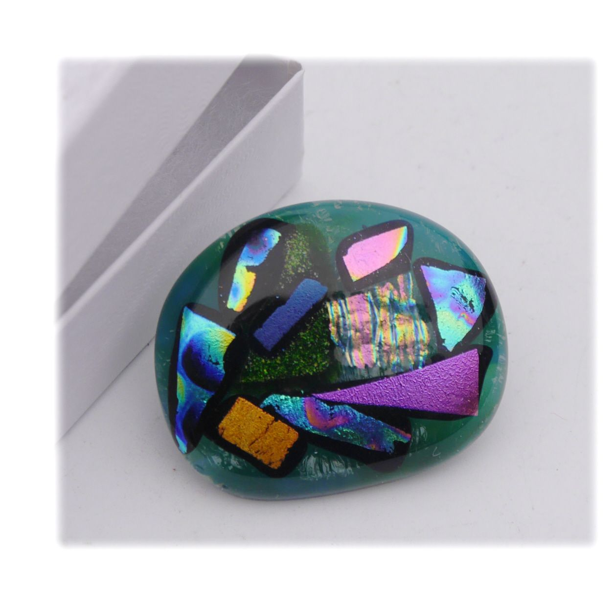 Brooch Fused Dichroic 045 #1811 FREE 8.00