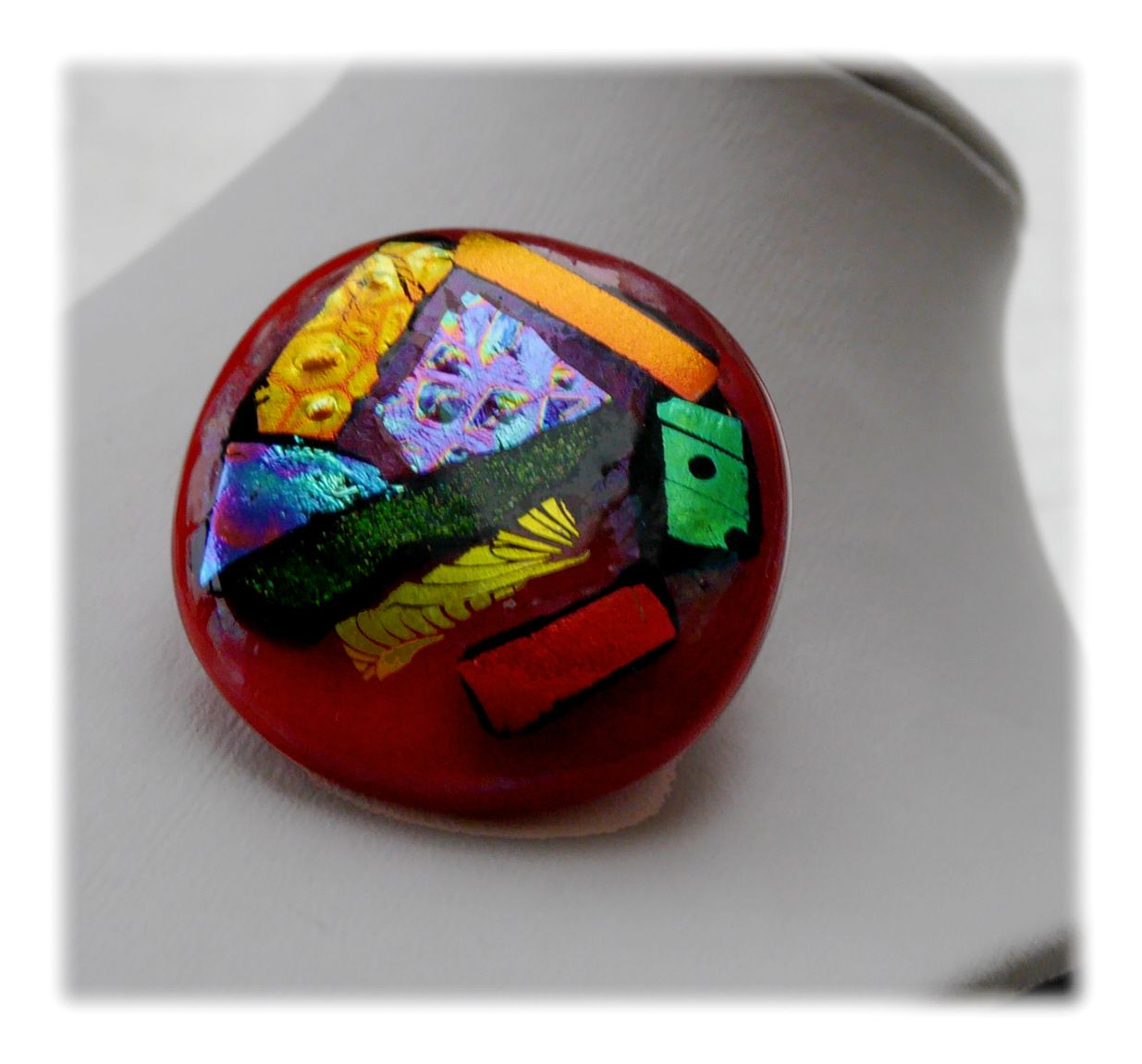 Brooch Fused Dichroic 048 #1811 FREE 8.00