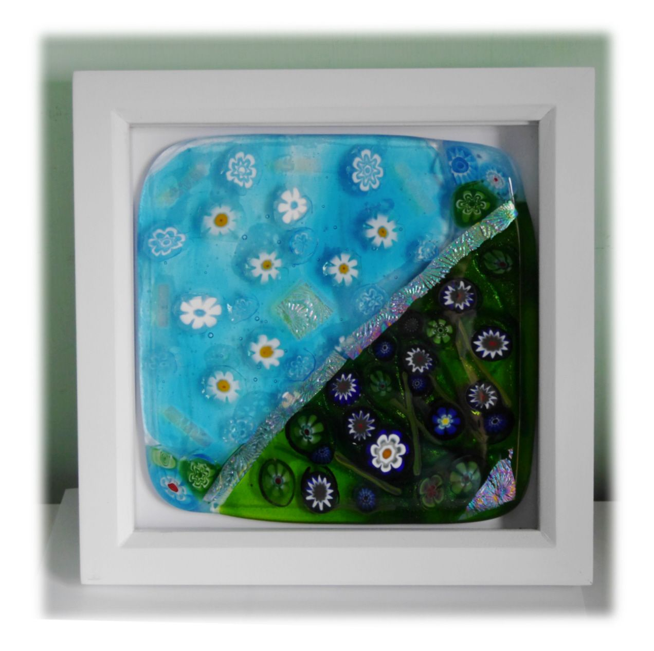 Millefiori Pond picture Framed 001 #1909 @FOLKSY @190904 @22.50