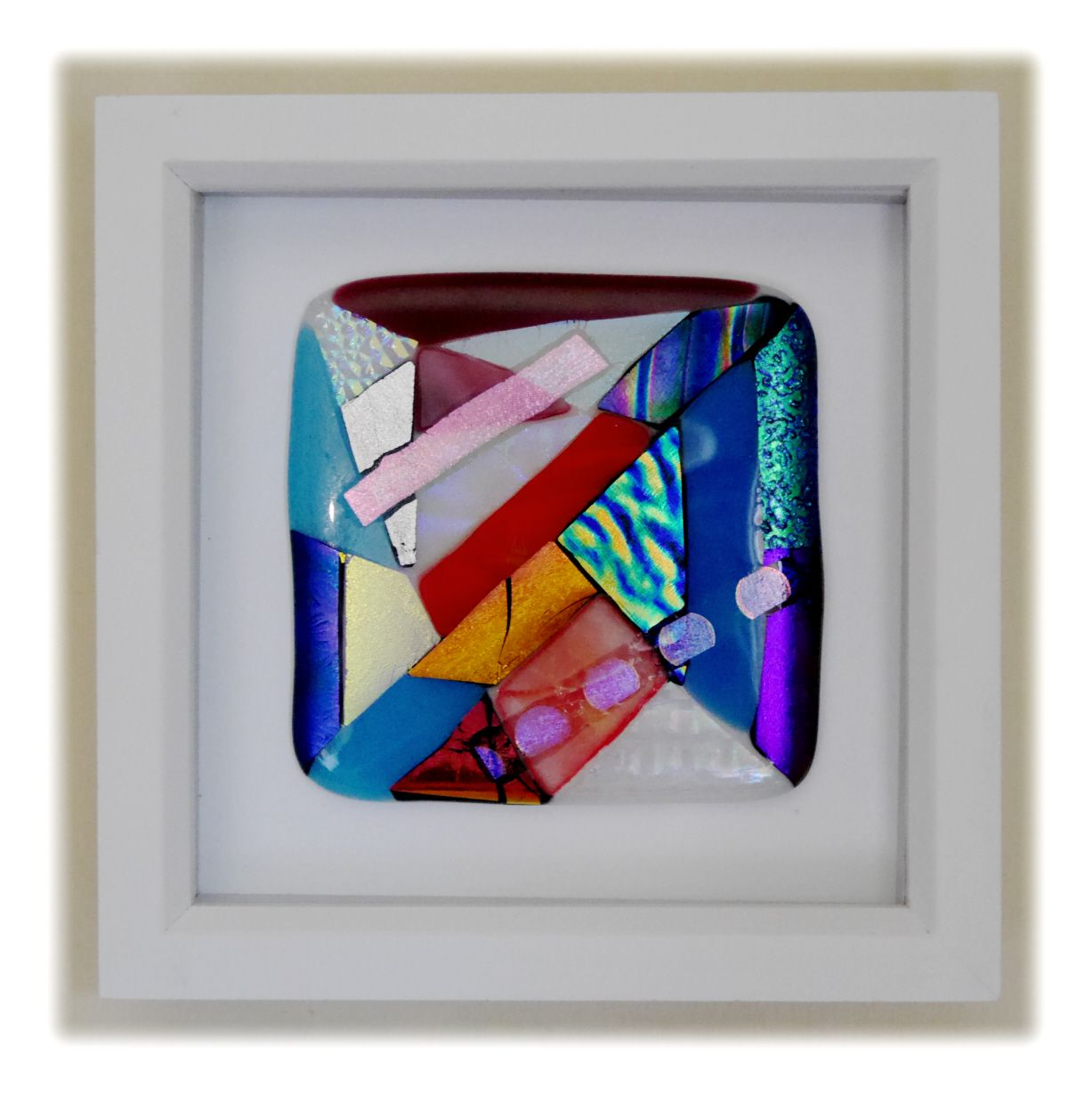 Abstract Fused Dichroic Framed 001 #1908 FREE 22.50
