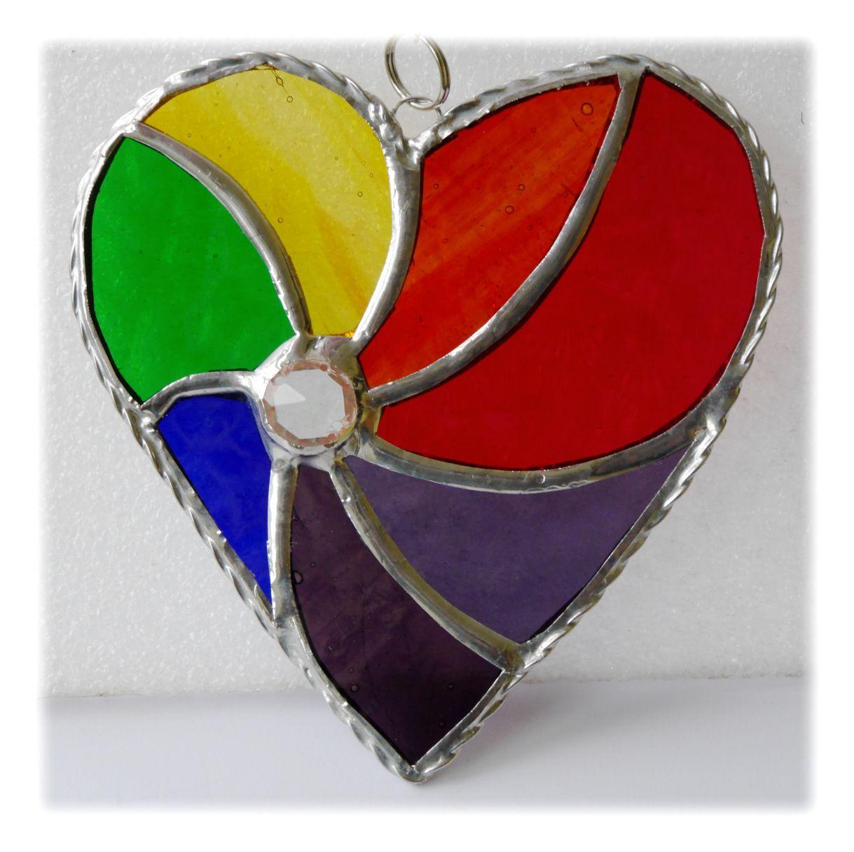 Swirl Heart 046 Rainbow #1908 FREE 14.50