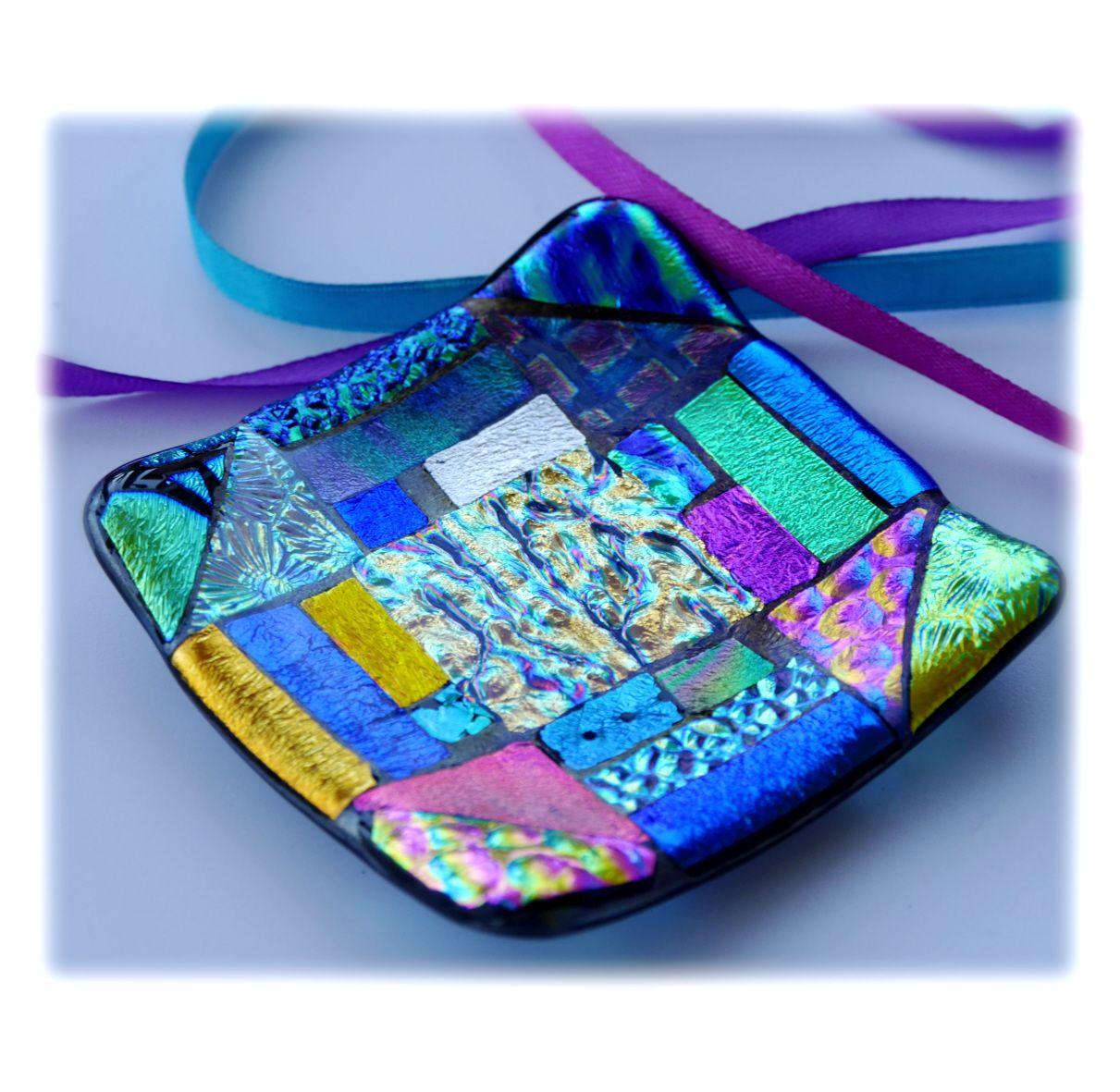 8cm Treasure Dichroic dish 003 #1908 @FOLKSY @190817 @13.75
