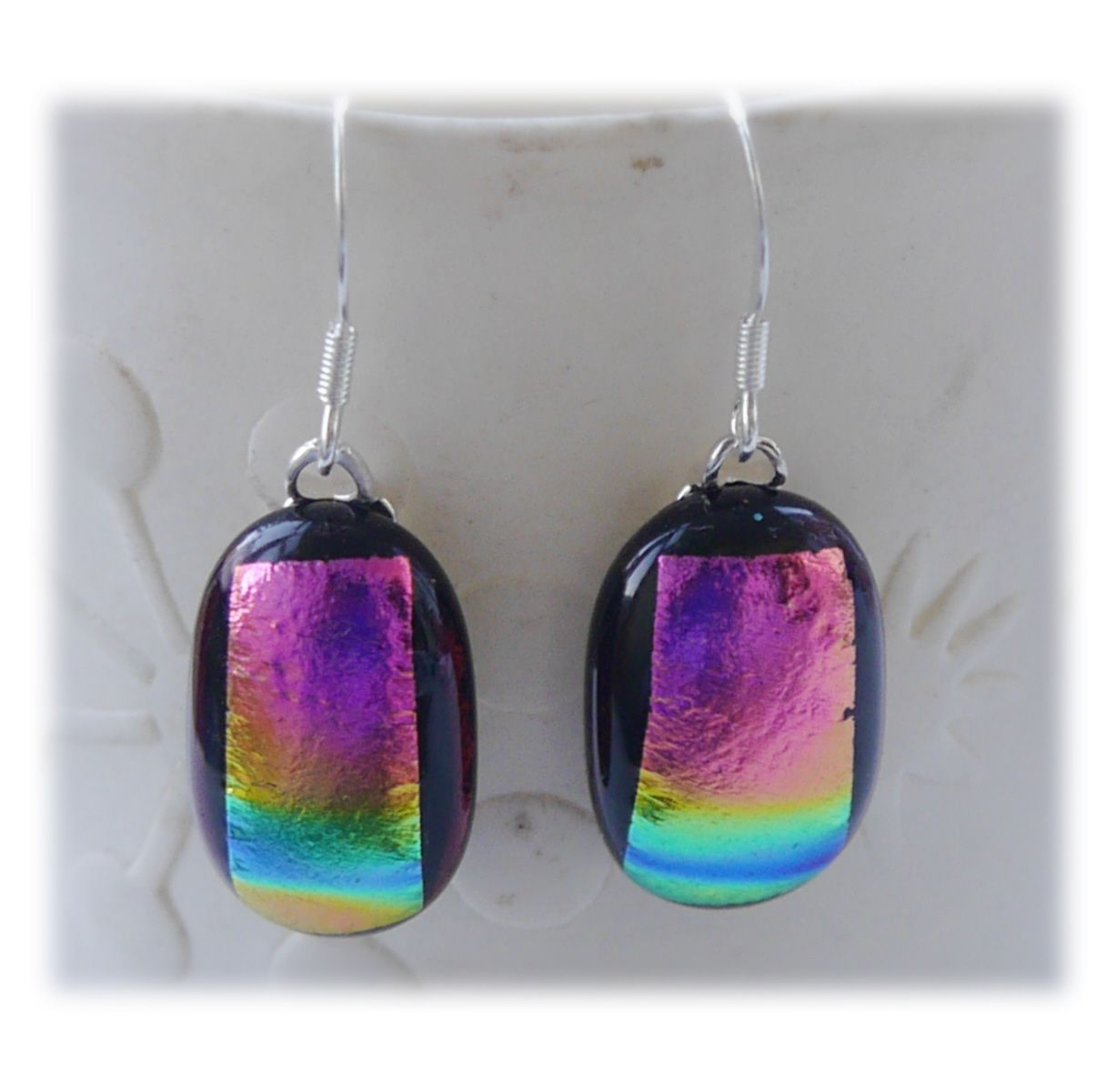 Earrings little 230 #19048cm Treasure Dichroic dish 003 #1908 @FOLKSY @1908