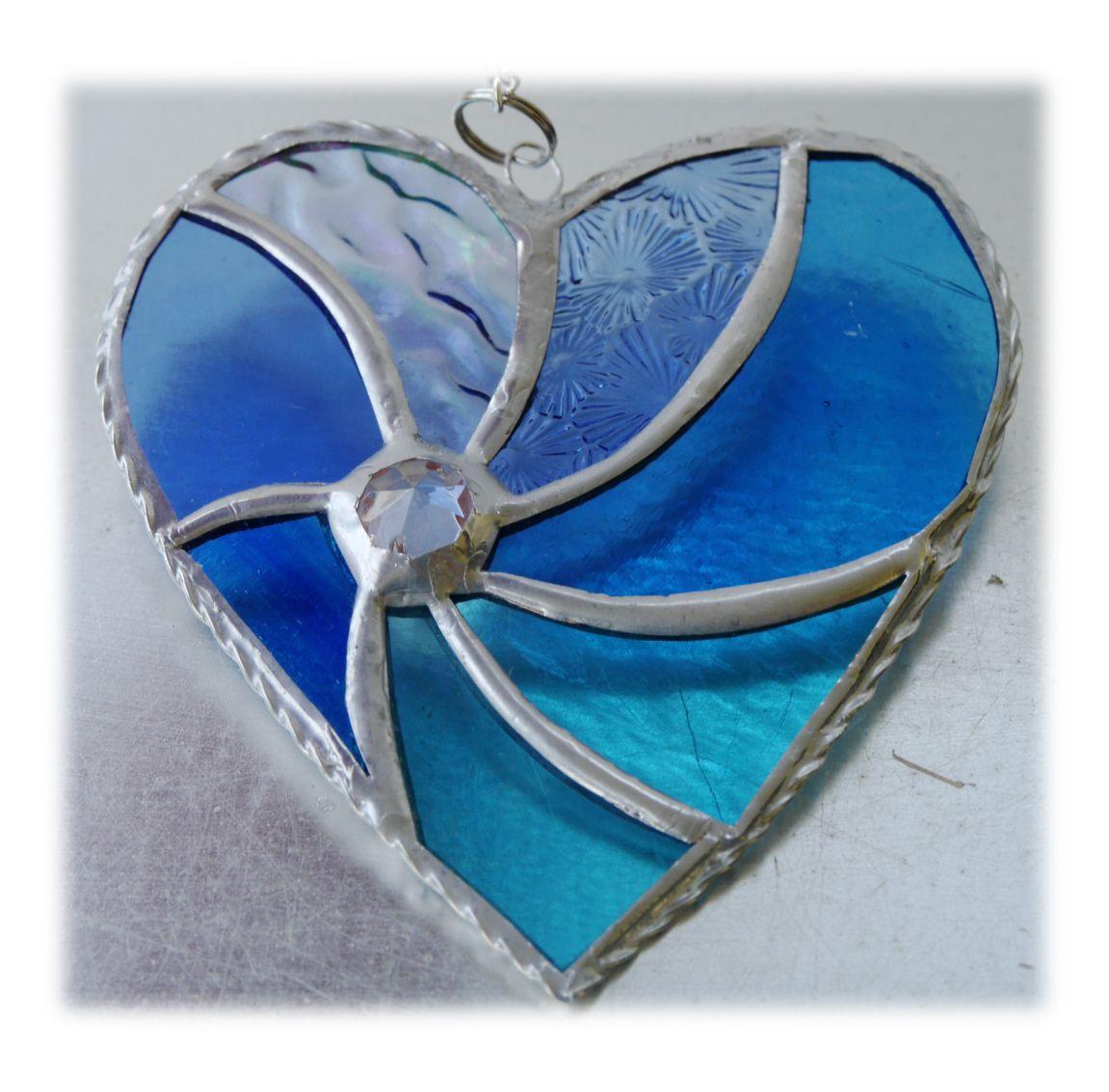Swirl Heart 045 Teal 1907 FREE 14.50