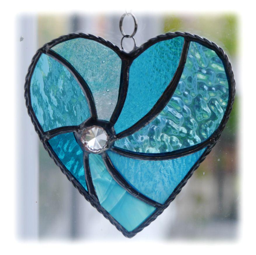 Swirl Heart 044 Turquoise #1907 FREE 14.50