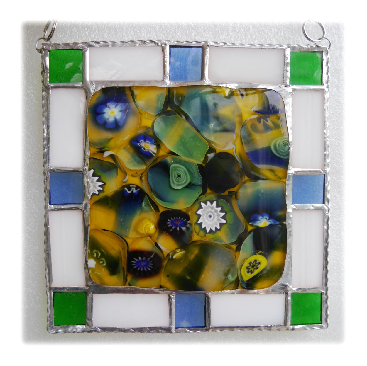 Fused Sunflower plaque #1909 FREE 20.00