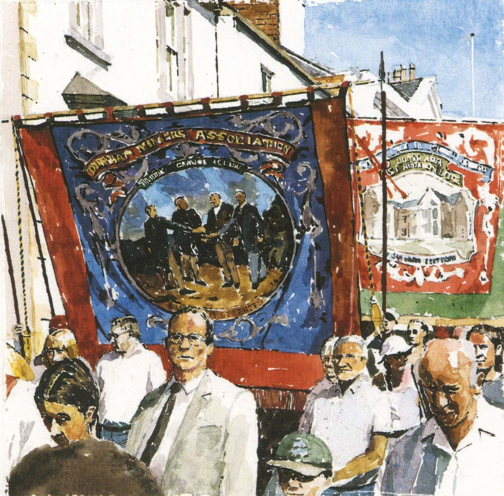 Bannermen. Durham Miners Gala