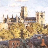Durham Cathedral from the train station
