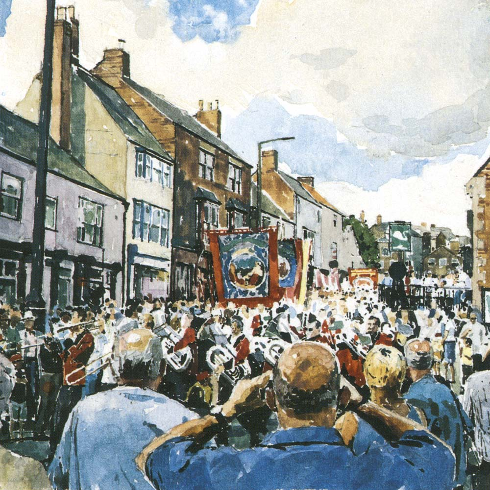 Summer Parade. Durham Miners Gala