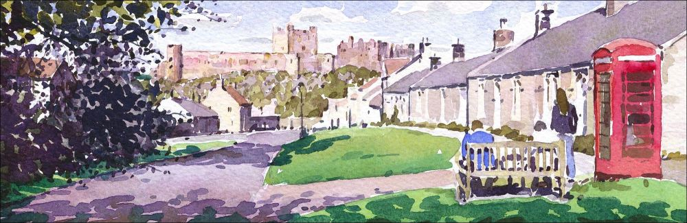 Bamburgh Village, Northumberland