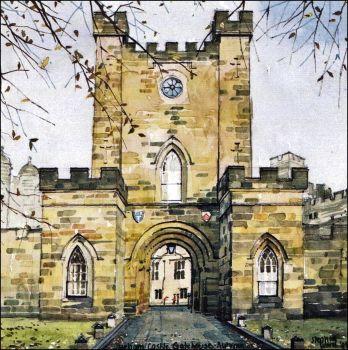 Durham Castle Gatehouse - Autumn
