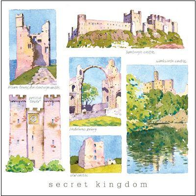 Durham, Tyneside and Northumberland Greetings Card