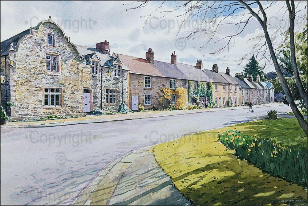 Brancepeth Village at Springtime