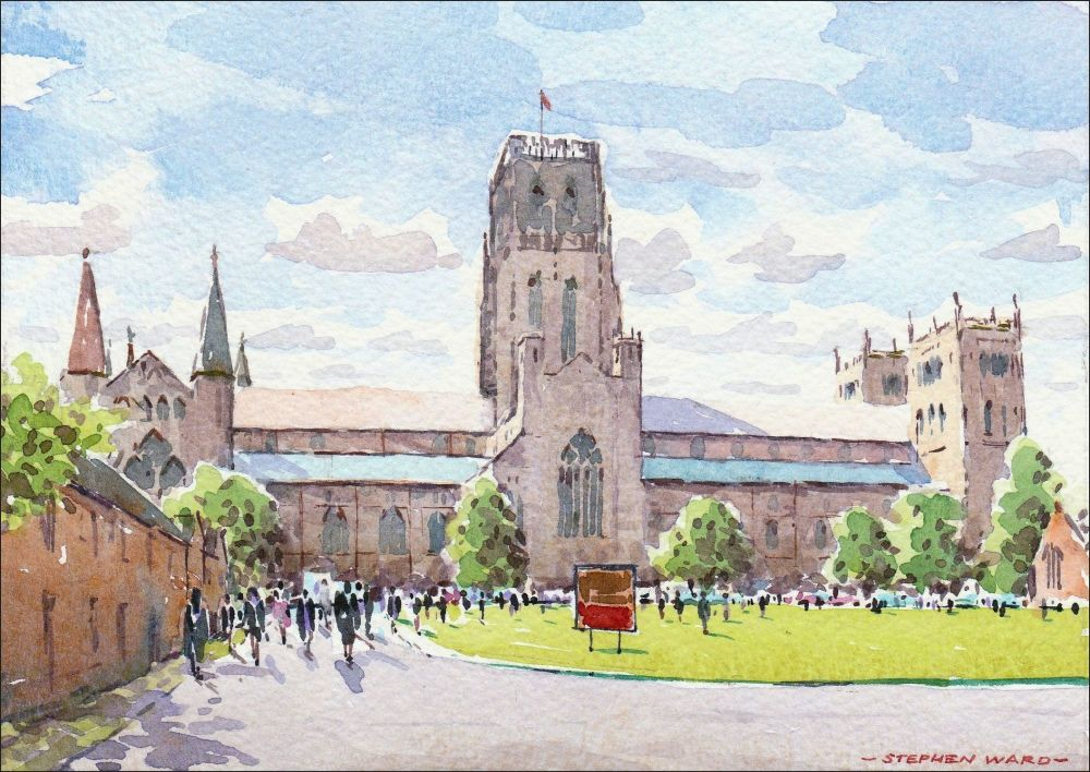 Congregation day at Palace Green, Durham.
